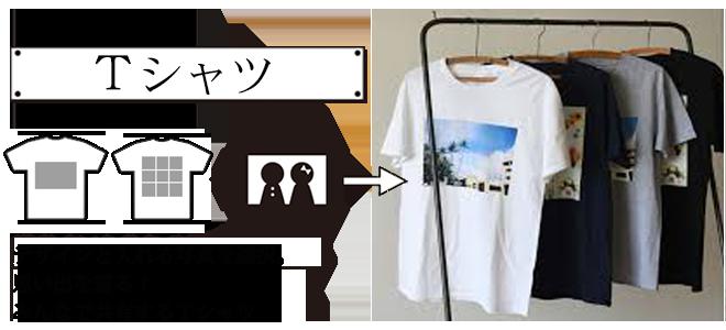 スマホからオリジナルTシャツを作る 写真からオリジナルTシャツを作る